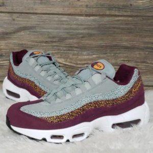 New Nike Air Max 95 Premium Grey Purple Sneakers